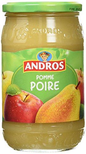 ANDROS - Dessert Fruitier - Bocal de 750g - Goût Pomme/Poire - Idéal pour le Goûter des Enfants et des Bébés - Fabriqué en France