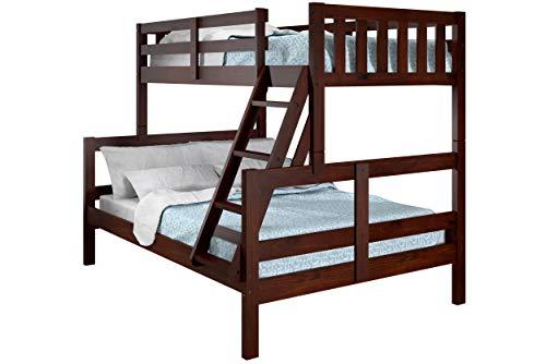 Donco Kids Austin Bunk Bed, Twin/Full, Dark Cappuccino
