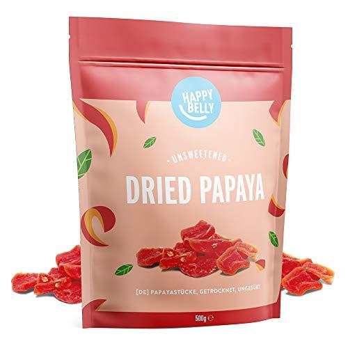 Amazon-Marke: Happy Belly Papayastücke, getrocknet, ungesüßt, 500g