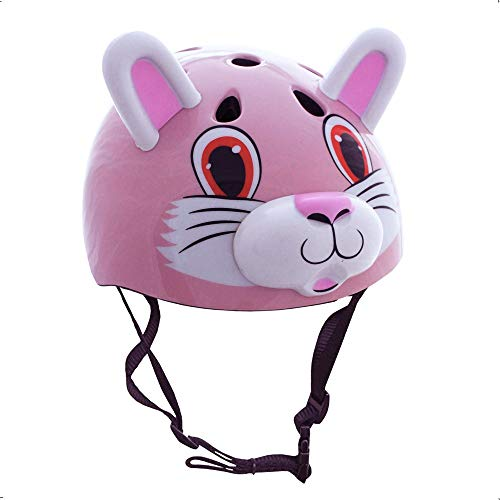 Pink Cat/Rabbit Childrens Safety Cycling Skating Scooter Bike Helmet (Suitable ages 3-11)
