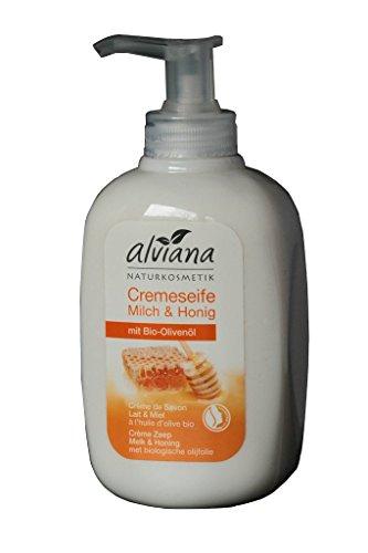 Alviana Naturkosmetik Cremeseife Milch & Honig mit Bio-Olivenöl 300 ml Natrue