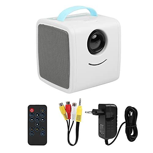 Kuuleyn Mini proyector, proyector para el hogar, Mini proyector Educativo para niños, proyector portátil HD LED HDMI, Cine en casa, Regalo para niños(UE Azul)