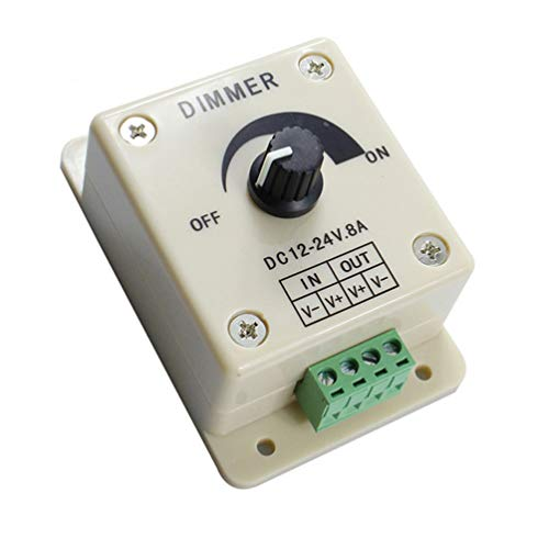 BESPORTBLE Pwm LED-Dimmer-Controller-Taste Ein-Aus-Schalter Langlebiger 12-V-8-A-LED-Panel-Dimmschalter für LED-Licht