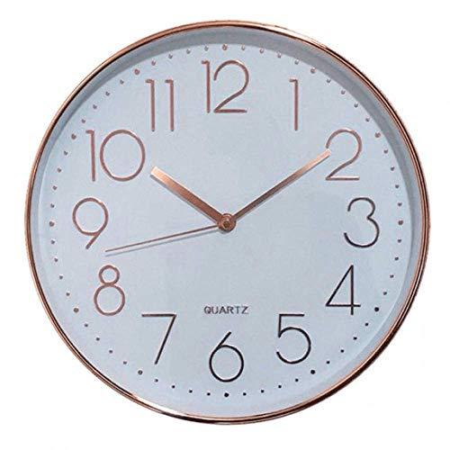 Relógio De Parede Branco E Mart Branco