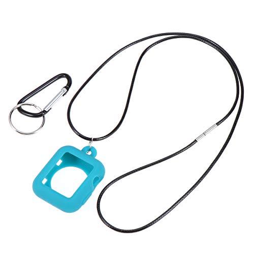 NICERIO 1 pç 42 mm Silicone Smart Watch Capa Colar Pingente Proteção Colar Colar Pingente Conjunto de Pingente Compatível Para Apple iWatch 3 2 1 (Sky-Blue)