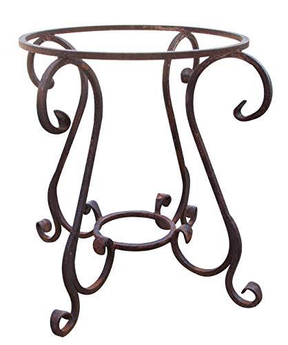Base de mesa de hierro macizo redondo diám. 65 x 60 cm.