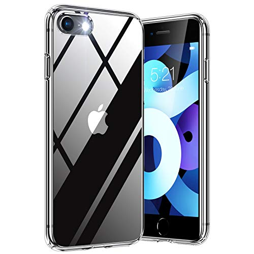 TORRAS Diamond Series für iPhone 7/8/SE 2020 Hülle Durchsichtig iPhone SE Hülle/iPhone 8 Hülle/iPhone 7 Hülle Hard Back und Silikon Bumper Handyhülle (Transparent)