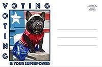 Patriotic Dog Postcards - 150 Superpower [並行輸入品]