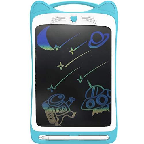CYBERNOVA - Tableta de Escritura LCD Colorida de 12 Pulgadas, Tableta electrónica Doodle Pad eWriter Tableta gráfica con Interruptor de Bloqueo Tableta de Dibujo (batería incorporada 1) (Azul)