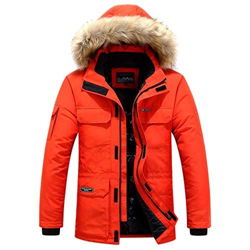 YSFWL Herren Wintermantel Steppjacke Steppmantel Windmantel Kapuzenjacke Pocket Mantel Cotton-Padded Top Coat Jacke Warme Winterjacke Winterparka üBergangsjacke Gefütterte Herbst Winter