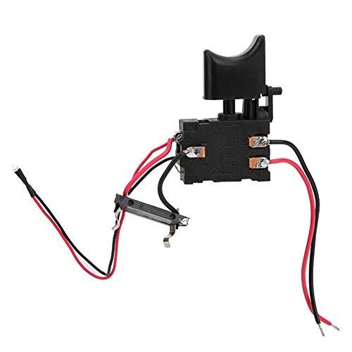 Interruptor de Taladro Eléctrico, batería de Litio de 7.2 V - 24 V, Interruptor de Gatillo de Control de Velocidad de Taladro Inalámbrico con Luz Pequeña, para Taladro Manual Eléctrico