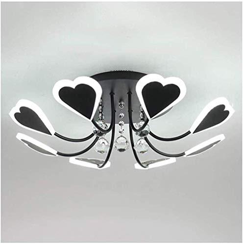 LJWJ Luz Ligera de Techo Araña de Araña, Luces de Techo de la Habitación, Lámpara de Techo de Moda Moderna Led de Hierro Cristal Acrílico Lámpara de Acrílico Restaurante Niños Lámpara de Decoración d