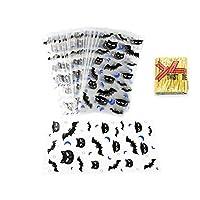 JJKEDW パーティービスケットスナックベーキング包装用品のツイストタイで50個ハッピーハロウィンクッキーキャンディパンビニール袋 (Color : C)
