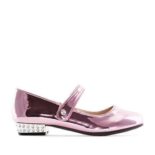 Andres Machado - AM5169 - Mary Jane Schuh für Mädchen aus Lackleder.EU 26 bis 35, Lack Rosa Mädchen, 28 EU