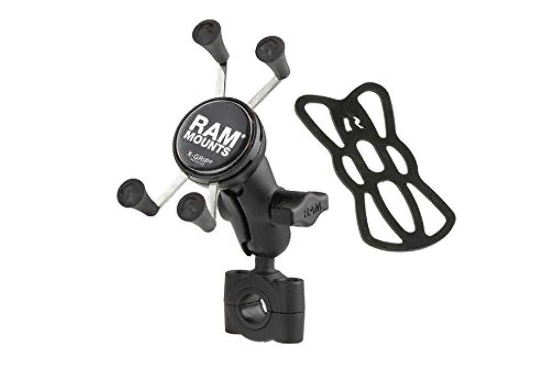 把握わずらわしい追記RAM MOUNTS(ラムマウント) マウントセット Xグリップ&バーマウントベース (ショートアーム)バー径19mm-25.4mm スマートフォン用 ブラック RAM-B-408-75-1-A-UN7U