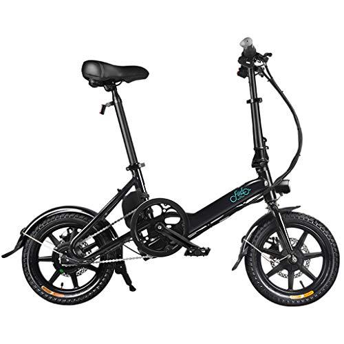SZPDD FIIDO D3 Faltbares Elektrofahrrad DREI Fahrmodi Ebike 250W Motor 25Km / H 25-40KM Reichweite E Fahrrad 16 Zoll Reifen Elektrofahrrad,Schwarz,battery7.8Ah
