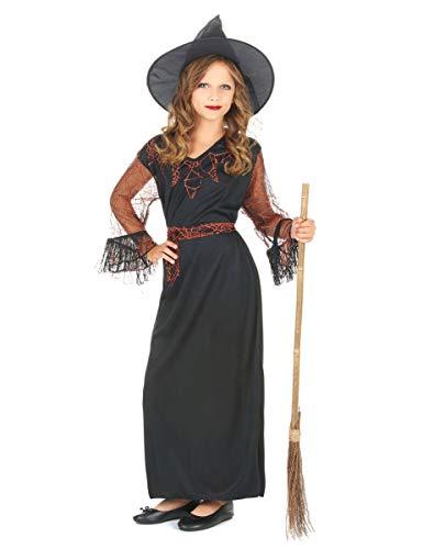 DEGUISE TOI Déguisement sorcière Noir Fille Halloween - L 10-12 Ans (130-140 cm)