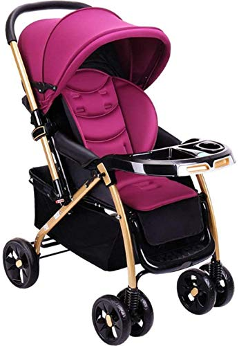 YONGYONGCHONG Carretilla Silla de Paseo Ligera y versátil de Alta Paisaje Sit reclinables niño del bebé Dos-cochecitos de bebé Triciclo