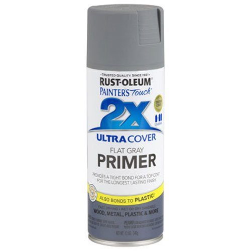 Rust-Oleum 249088 Painter's Touch Multi Purpose Spray Paint, 12-Ounce, Gray Primer