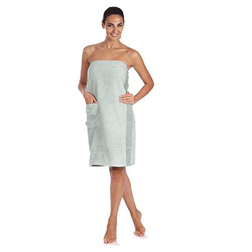 Egeria Wellness & Sauna Ben Sarong Saunakilt für Damen 100% Baumwolle - Gravel - One-Size