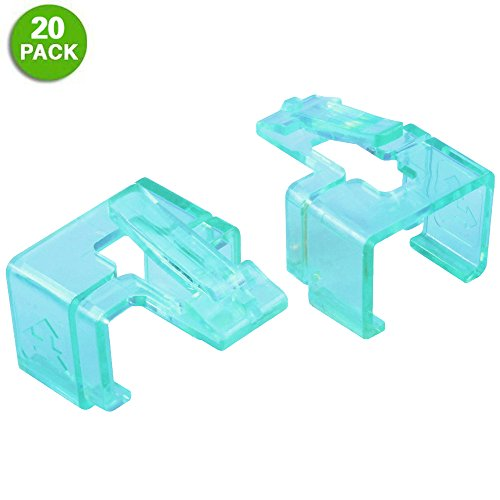 20 Pack Plug SOS Clips in Green, for RJ45 Connector Fix/Repair and Color Coding/Management, NO Crimp Tool Needed