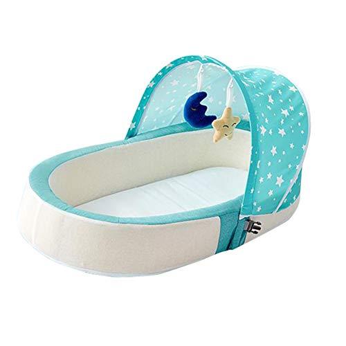 SXFYMWY Lit de Voyage Pliable portatif de lit de dormeur de Matelas de lit de bébé lit Multifonctionnel Confortable Multifonctionnel,Green