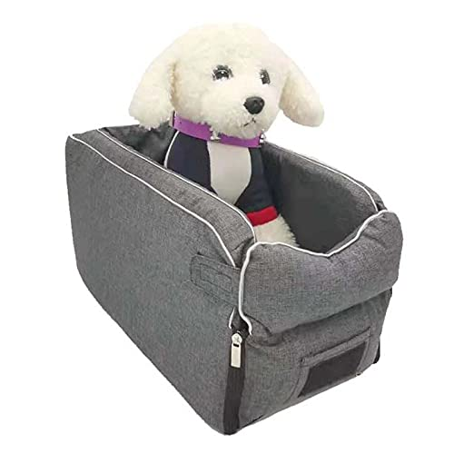 XIHUANNI Asiento elevador de perro para mascotas en el reposabrazos del coche, cama portátil para cachorros de gato pequeño, cesta de seguridad suave para silla de viaje y mascotas protectora lavable