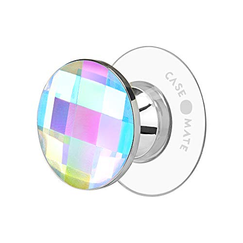 Case-Mate - MINIS - Phone Grip - Holder - Stand - Removable - Allows MagSafe Accessory Usage - Universally Compatible - Suction Cup - Iridescent Crystal