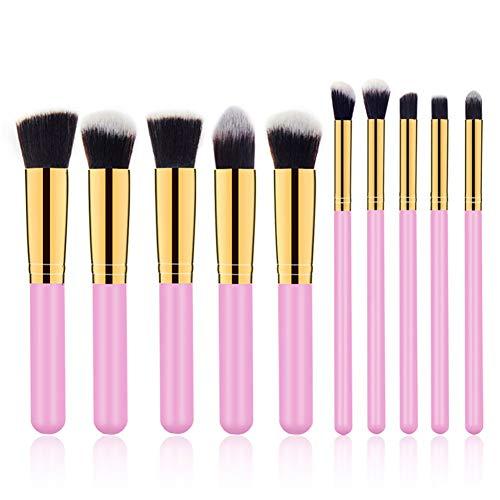 Danme 10 PCS Professional Kabuki Make-up Brush Foundation Blusher Face Powder Brushes Makeup Brush