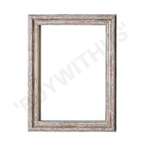 Ornate Shabby Chic Bild- / Foto- / Posterrahmen - Mit MDF-Platte - mit Plexiglasblatt - Nussbaum Rahmen - 61 x 91 cm