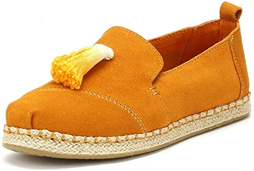 TOMS Womens Deconstructed Alpargatas Casual Flats Shoes, Tan, 7