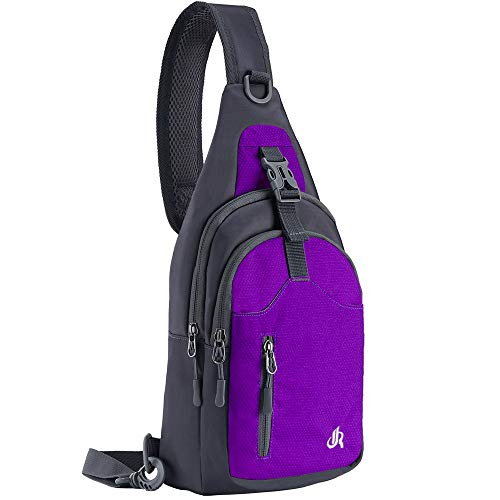 Y&R Direct Sling Bag Sling Backpack,Shoulder Chest Crossbody Bag Purse Nylon Lightweight MulticolorSmall Daypack Outdoor Hiking Camping Travel Women Men Boy Girls Kids Gifts (Dark purple)