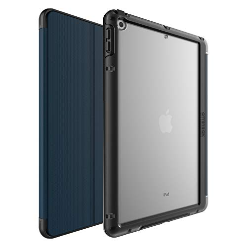 OtterBox Symmetry Folio, Shockproof Cover with Flap for Apple iPad 10.2 Inch (7th Gen 2019 / 8th Gen 2020) - Blue - Non-Retail Packaging
