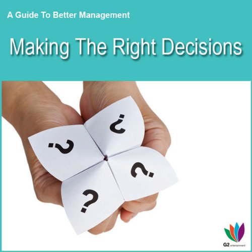 Making the Right Decisions audiobook cover art