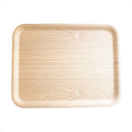 K'sキッチン すべらないトレー43cm 木製 ノンスリップ ウイローウッド お盆 お膳 カフェトレー 重なる スタック 長方形 おしゃれ トレイ