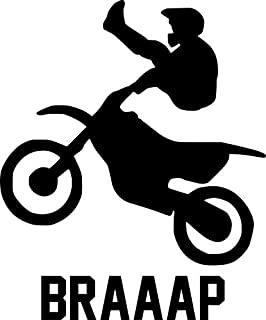 Motocross Rider Vinyl Decal Sticker | Cars Trucks Walls Vans Windows Laptops | Black | 5.5 X 4.5 Inches | KCD1817B