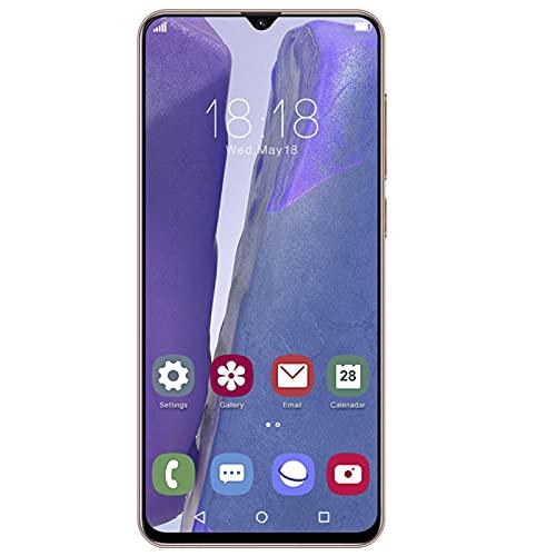 Teléfono Android, Note21U 6.26in Desbloqueo Facial Desbloqueado Smartphone 1 + 8G Tarjeta Dual Teléfono móvil con Doble Modo de Espera con batería de 2400mAh Bronce(Enchufe de la UE)