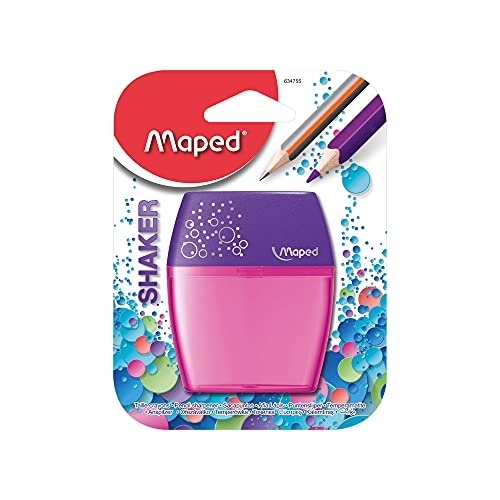 Maped Shaker - Sacapuntas 2 orificios (Sacapuntas manual, Verde, De plástico) 634755