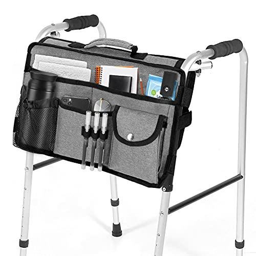 Walker Bag, Maxjaa portátil plegable manos libres bolsa de almacenamiento para andador...