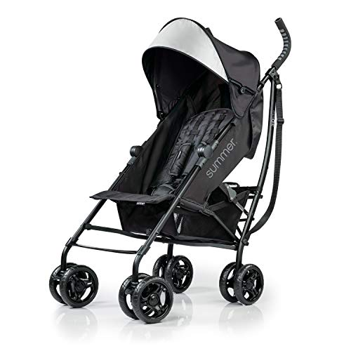Summer Infant 3Dlite Convenience Stroller, Jet Black, 32843