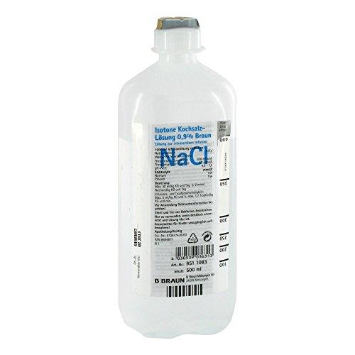 Isotone Kochsalz-Lösung 0,9% Braun, Ecoflac plus,500ml