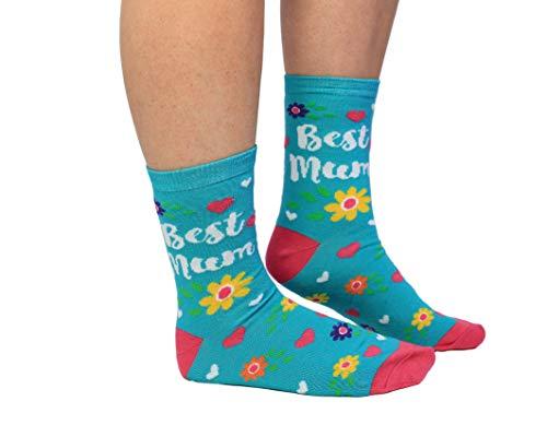 Cockney Spaniel Best Mum Socken in 37-42 im Paar - Beste Mutter Strumpf