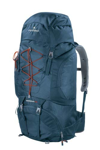 Sac à dos Trekking Narrows 70 litres couleur bleu marque Ferrino - Multipoches pour un rangement optimal du chargement - Idéal pour trekking ou bagage voyage aventure