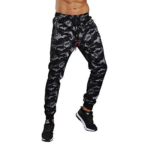 Bestow-pantalones Deportivos de Camuflaje para Hombre Pantal