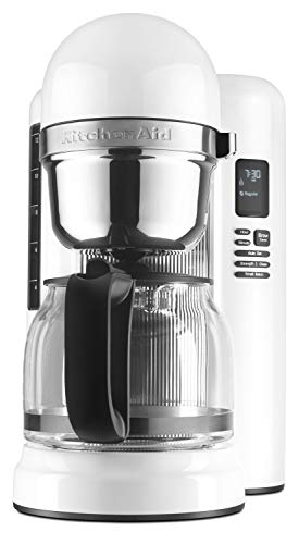 KitchenAid KCM1204WH 12-Cup Coffee Maker with One Touch Brewing - White (Renewed)
