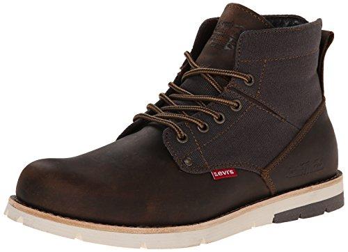 Levis Men's Jax Chukka Boot, Brown/Charcoal, 13 M US