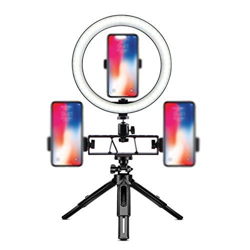 Escritorio Luz de Anillo de Selfie 10' con Soporte de Teléfono Celular Flexible de Trípode Extensible, Luz de Círculo de Escritorio Regulable LED para Transmisión en Vivo Universal ( tamaño : 10in )