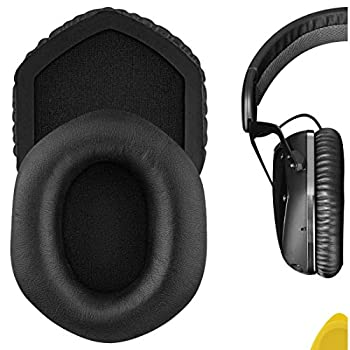 Geekria QuickFit Protein Leather Replacement Ear Pads for V-Moda Crossfade Wireless M-100 LP LP2 Headphones Earpads Headset Ear Cushion Repair Parts  Black