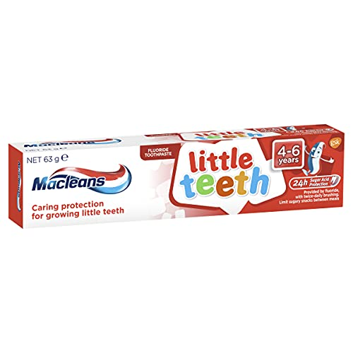 Macleans Toothpaste Kids Little Teeth for Children 4-6 Years Old, Mint, 63 Grams