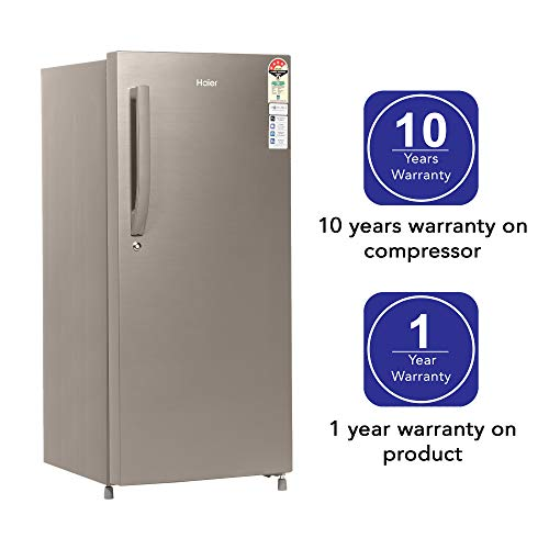 Haier 195 L 4 Star Direct-Cool Single-Door Refrigerator (HED- 20CFDS, Dazzle Steel) 4